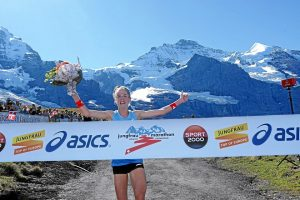 INTERLAKEN, 8SEP18 - Martina Straehl (Schweiz) gewinnt den 26. Jungfrau-Marathon am 8. September 2018 auf der Kleinen Scheidegg. Impression of the 26th Jungfrau Marathon in Interlaken, Switzerland, September 8, 2018.  swiss-image.ch/Photo Andy Mettler